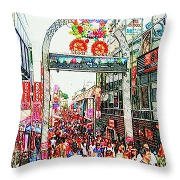 Harajuku Throw Pillow by Daisuke Kondo