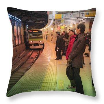 Tokyo Metro, Japan Throw Pillow
