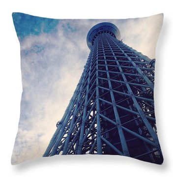 Skytree Tower From The Bottom, Tokyo, Japan Throw Pillow