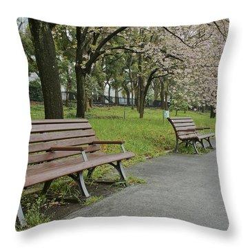 Tokyo Spring Throw Pillow