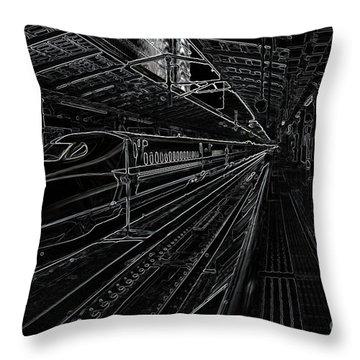 Tokyo To Kyoto, Bullet Train, Japan Negative Throw Pillow