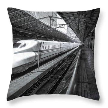 Tokyo To Kyoto, Bullet Train, Japan Throw Pillow