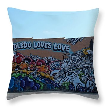 Throw Pillow featuring the photograph Toledo Loves Love by Michiale Schneider