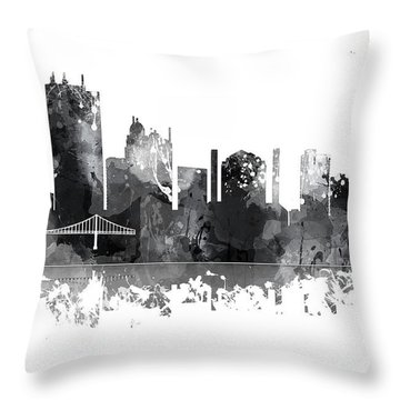 Toledo Ohio Skyline Throw Pillow
