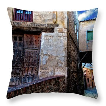 Throw Pillow featuring the photograph Toledo Passage  by Harry Spitz