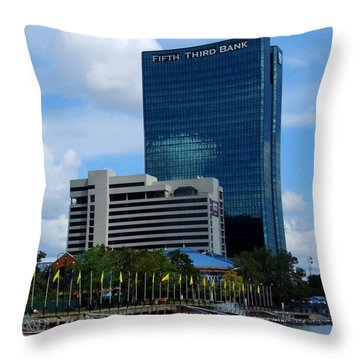 Toledo's Waterfront I Throw Pillow by Michiale Schneider