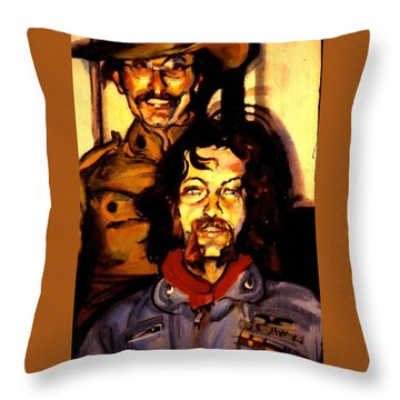 Tom And Doug Throw Pillow