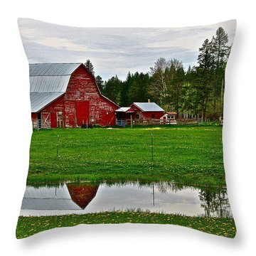 Tom And Sylvia's Throw Pillow