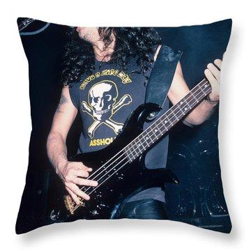 Tom Araya Of Slayer Throw Pillow