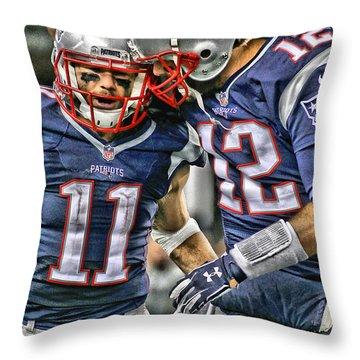 Tom Brady Art 1 Throw Pillow