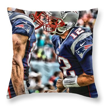 Tom Brady Art 4 Throw Pillow
