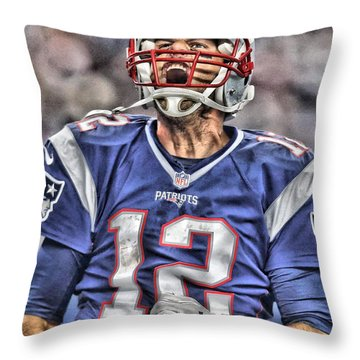 Tom Brady Art 5 Throw Pillow