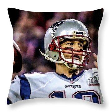 Tom Brady - Touchdown Throw Pillow