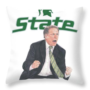 Tom Izzo Throw Pillow
