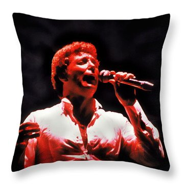 Tom Jones In Concert Throw Pillow