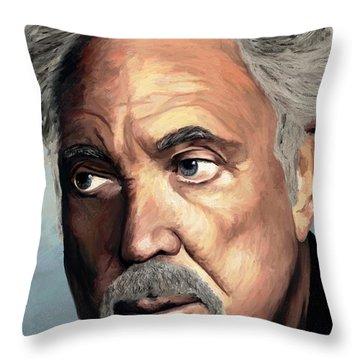 Tom Jones Throw Pillow by James Shepherd