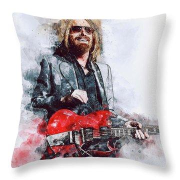 Tom Petty - 21 Throw Pillow