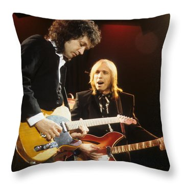 Tom Petty And Mike Campbell Throw Pillow
