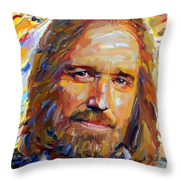 Tom Petty Tribute Portrait 1 Throw Pillow