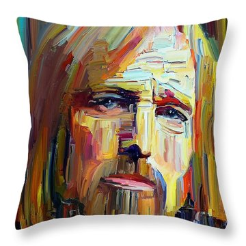 Tom Petty Tribute Portrait 4 Throw Pillow