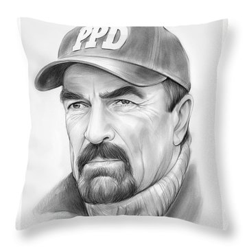 Tom Selleck Throw Pillow