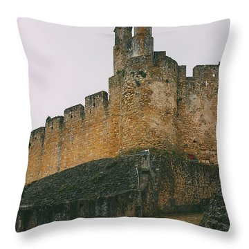 Tomar Castle, Portugal Throw Pillow