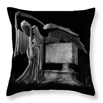 Throw Pillow featuring the mixed media Tomas Riddle Tomb Harry Potter by Gina Dsgn