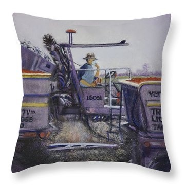 Tomato Harvest Time Throw Pillow