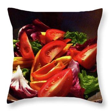 Tomato Salad Throw Pillow