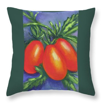 Tomato Roma Throw Pillow