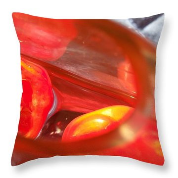 Tomatoe Red Throw Pillow
