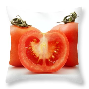 Tomatoes Throw Pillow by Fabrizio Troiani
