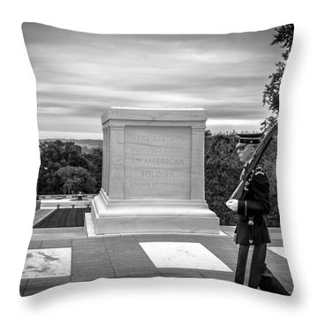 Throw Pillow featuring the photograph Tomb Of The Unknown Solider by David Morefield