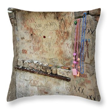 Tomb Of The Unknown Voodoo Priestess Throw Pillow