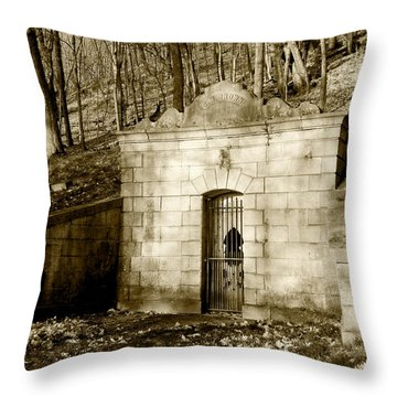 Tomb With A View In Sepia Throw Pillow