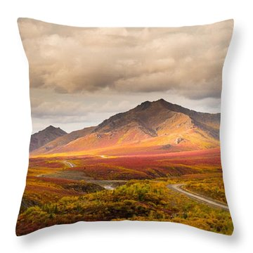 Tombstone Territorial Park Yukon Throw Pillow