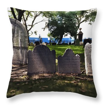 Tombstones Throw Pillow by Kelley King
