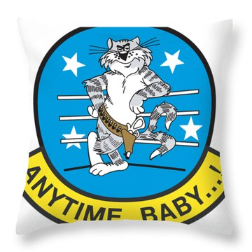 Tomcat Anytime Baby Throw Pillow