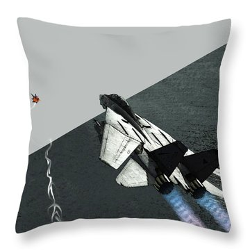 Tomcat Kill Throw Pillow by Walter Chamberlain