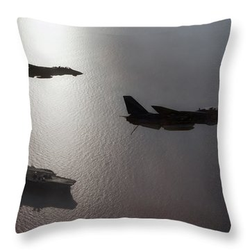 Throw Pillow featuring the photograph Tomcat Silhouette  by Peter Chilelli