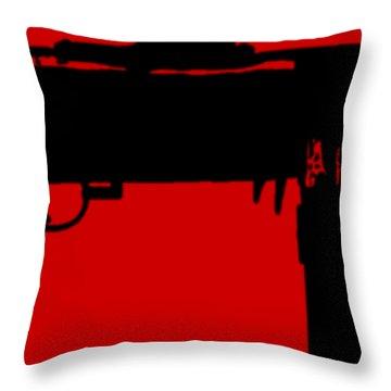 Tommy Gun Tee Throw Pillow