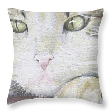 Throw Pillow featuring the painting Tommy by Mary-Lee Sanders