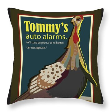 Tommy's Alarms Throw Pillow