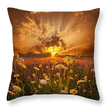 Tomorrow Is Just One Of Yesterday's Dreams Throw Pillow