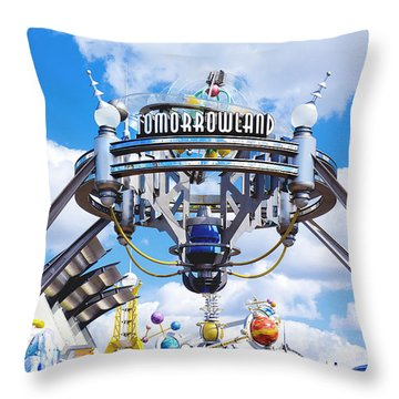 Tomorrowland Throw Pillow by Greg Fortier
