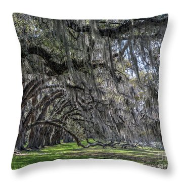 Tomotley Plantation Arches Throw Pillow