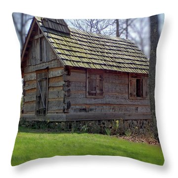 Tom's Country Church And School Throw Pillow