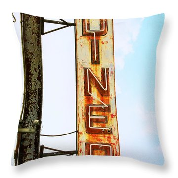 Tom's Diner Throw Pillow