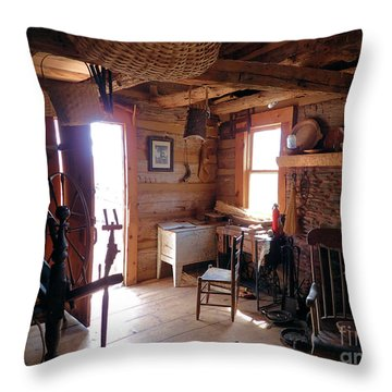 Tom's Old Fashion Cabin Throw Pillow