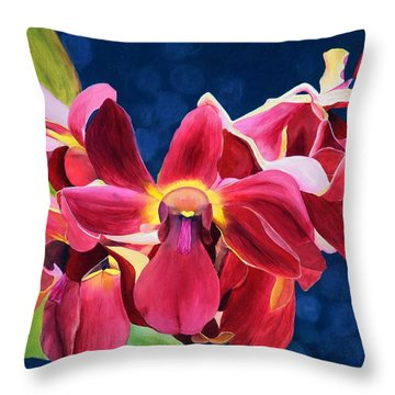 Tom's Orchid Throw Pillow